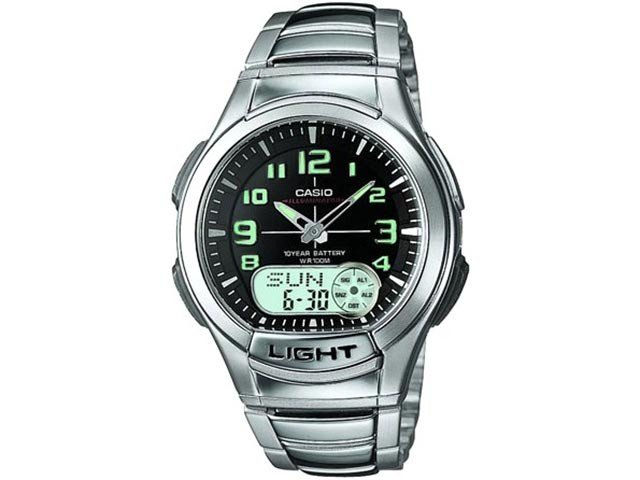 5fdf202e76e Relógio Masculino Casio Anadigi Mundial AQ 180WD 1BV - Relógio ...