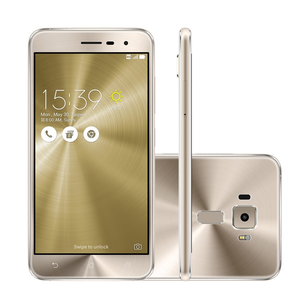 smartphone asus zenfone 3 ze520kl dourado asus celulares. Black Bedroom Furniture Sets. Home Design Ideas