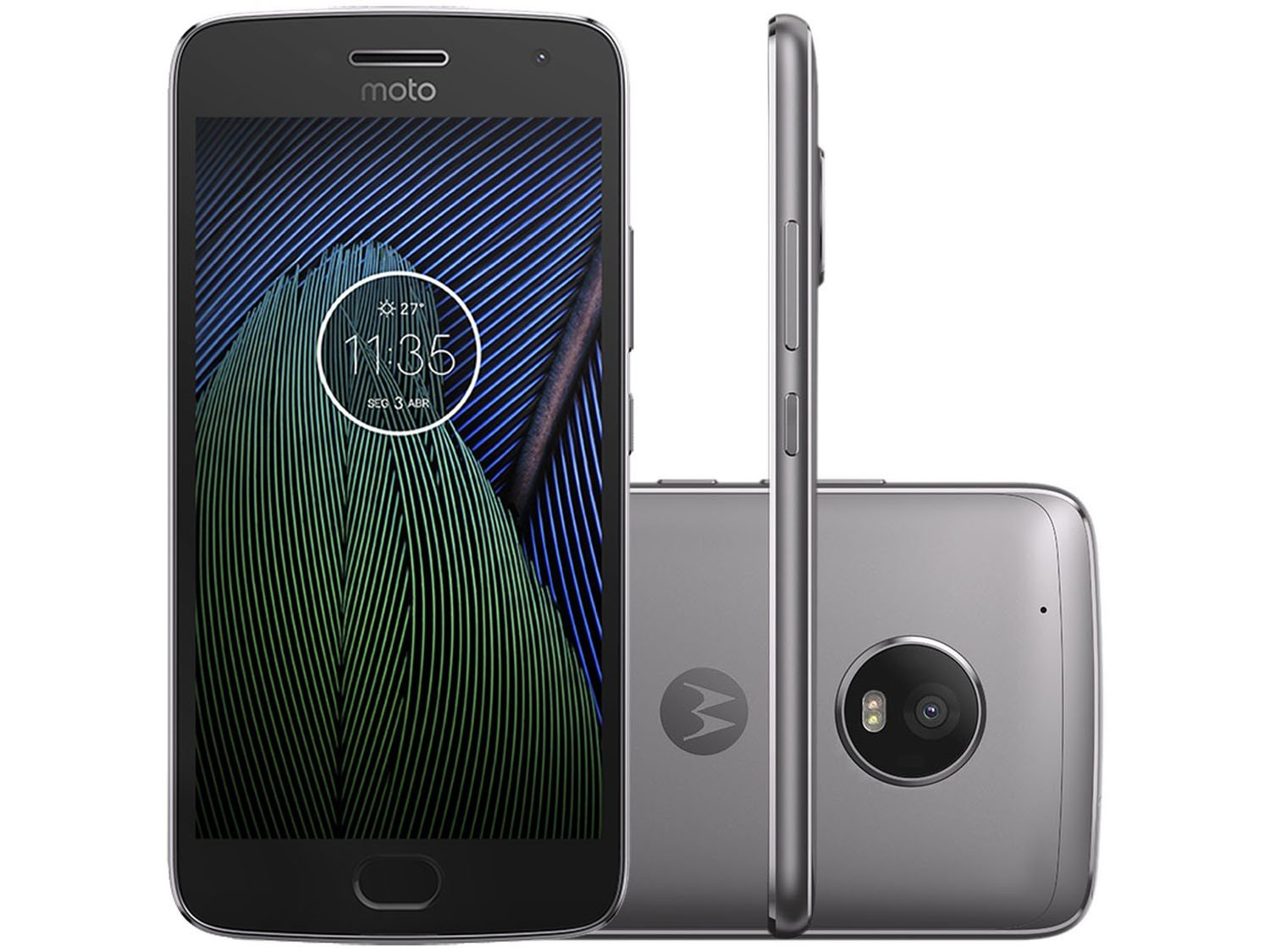 smartphone motorola moto g5 plus 32gb platinum dual chip c m 12mp selfie 5mp tela 5 2. Black Bedroom Furniture Sets. Home Design Ideas