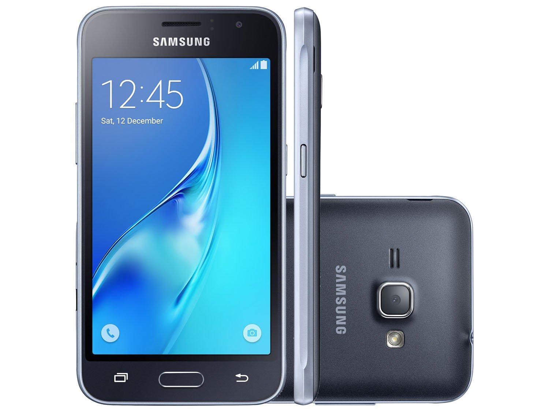 smartphone samsung j1 8gb preto dual chip 3g c m 5mp tela. Black Bedroom Furniture Sets. Home Design Ideas