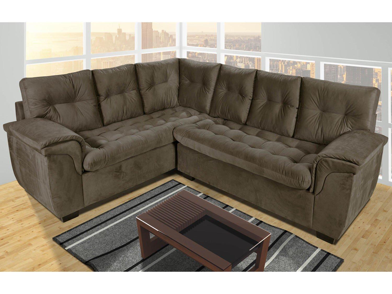 sof de canto 6 lugares tecido sevilha hellen sof s