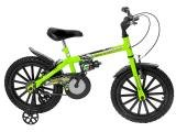 Bicicleta Infantil Track  Bikes Dino Neon Aro 16  - Freio V-Brake