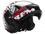 Capacete Gladiator RPM Mixs Preto e Vermelho - Tam. 62