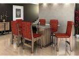 Conjunto de Mesa 6 Cadeiras Dobuê Movelaria - Amsterdam