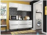 Cozinha Compacta Multimóveis New Paris 2836.893 - com Balcão 8 Portas 3 Gavetas