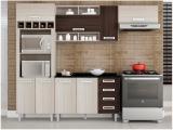 Cozinha Completa Poliman Móveis Luiza - com Balcão Nicho para Forno ou Micro-ondas