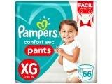 Fraldas Calça Pampers Pants Confort Sec Tam. XG - 66 Unidades