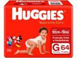 Fraldas Huggies Supreme Care Tam G - 64 Unidades