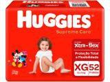 Fraldas Huggies Supreme Care Tam XG 12 a 15kg - 52 Unidades