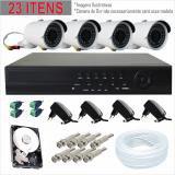 Dvr Jl Protec Cftv 04 Câmeras Ahd 4 Canais Kit Com Câmera - D9804c-e6
