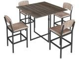 Mesa de Cozinha 4 Cadeiras Quadrada Luna - Brastubo