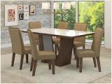 Mesa de Jantar 6 Cadeiras Retangular Viero Móveis - Drop