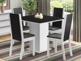 Mesa de Jantar com 4 Cadeiras Quadrada - Madesa Roma