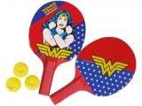 Raquete Tênis de Mesa Bel Fix Mulher Maravilha - 2 Peças com Bolinha