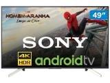 "Smart TV 4K LED 49"" Sony KD-49X755F Android - Wi-Fi HDR Conversor Digital 4 HDMI 3 USB"