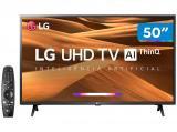 """Smart TV 4K LED 50"""" LG 50UM7360PSA Wi-Fi - Inteligência Artificial Conversor Digital 3 HDMI"""