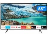 "Smart TV 4K LED 55"" Samsung UN55RU7100GXZD - Wi-Fi Bluetooth 3 HDMI 2 USB"