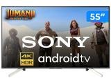 "Smart TV 4K LED 55"" Sony KD-55X755F Android - Wi-Fi HDR Conversor Digital 4 HDMI 3 USB"