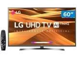 "Smart TV 4K LED 60"" LG 60UM7270PSA Wi-Fi HDR - Inteligência Artificial Conversor Digital 3 HDMI"