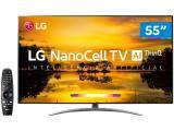"Smart TV 4K NanoCell 55"" LG 55SM9000PSA Wi-Fi - Inteligência Artificial Conversor Digital 4 HDMI"