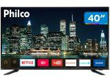 "Smart TV LED 40"" Philco PTV40E60SN Full HD - Wi-Fi Conversor Digital 03 HDMI 02 USB"