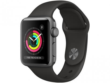 Apple Watch Series 3 38mm GPS Integrado  - Wi-Fi Bluetooth Pulseira Esportiva 8GB