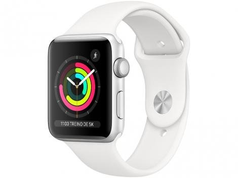 Apple Watch Series 3 42mm GPS Integrado  - Wi-Fi Bluetooth Pulseira Esportiva 8GB