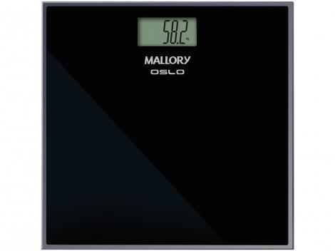 Balança Digital até 150kg Vidro Temperado - Antiderrapante - Mallory Oslo