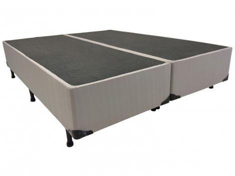 Base Cama Box King Size Luckspuma Bipartido - 30cm de Altura Valeriano
