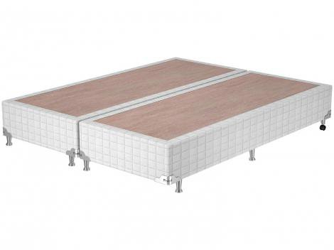 Base Cama Box Queen Size Probel Bipartido - 26cm de Altura Quadriculado