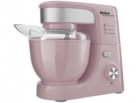 Batedeira Planetária Philco Portátil Pink PHP500 - 500W 11 Velocidades