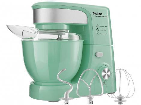Batedeira Planetária Philco Verde 500W - Creative Colors PHP500 Turbo 11 Velocidades