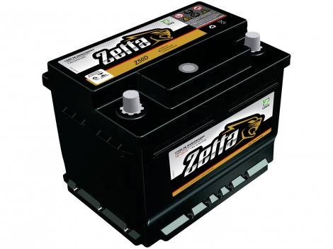 Bateria de Carro Zetta 50Ah 12V - Polo Positivo Direito Z50D