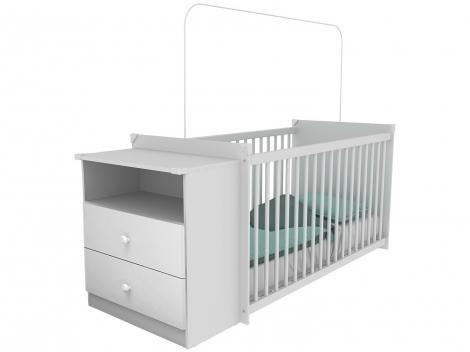 Berço Grade Fixa 3 Níveis de Altura Multimóveis - Meu Bebê 2870.010
