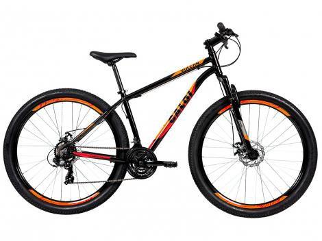 """Bicicleta Aro 29"""" Mountain Bike Caloi Vulcan - Freio a Disco 21 Marchas Câmbio Shimano"""