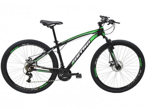 Bicicleta Aro 29 Mountain Bike Polimet Nitro  - Freio a Disco 21 Marchas Câmbio Shimano