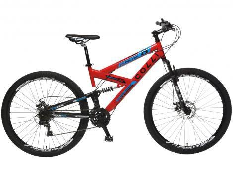 Bicicleta Colli Bike Extreme Pro Aro 29 21 Marchas - Dupla Suspensão Câmbio Shimano Quadro de Aço