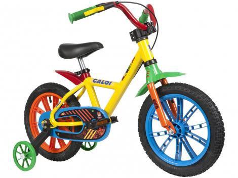 Bicicleta Infantil Aro 14 Caloi Cecizinha - com Rodinhas Freio a Disco