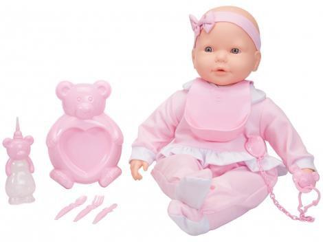 Boneca New Bebê Mania Baba com Acessórios - Roma Brinquedos