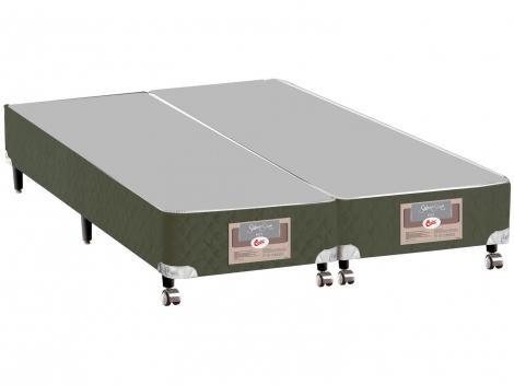 Box para Colchão King Size Castor Bipartido  - 27cm de Altura Silver Star