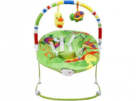 Cadeirinha de Descanso Bouncer Vibratória - Baby Style Poli verde