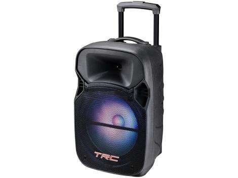 Caixa de Som Bluetooth Portátil TRC 329 200W  - USB com Microfone MP3
