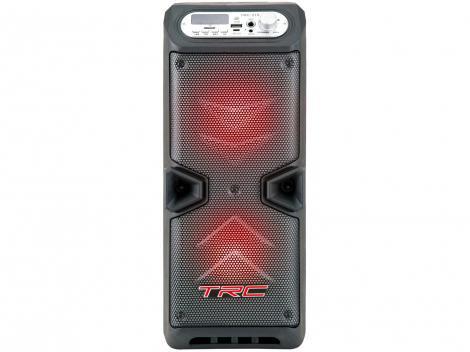 Caixa de Som Bluetooth TRC 219 Portátil Ativa - Amplificada 35W com Microfone USB