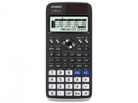 Calculadora Científica Casio 553 Funções - ClassWiz FX-991LA X Preta e Branca