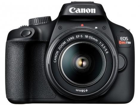 Câmera Digital Canon Semiprofissional 18MP - EOS Rebel T100 Wi-Fi