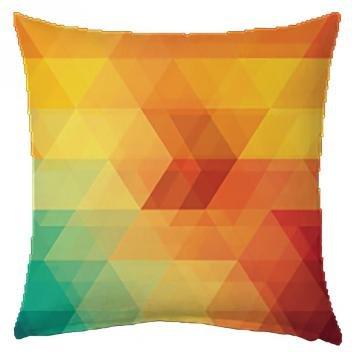 Capa de Almofada 40x40cm Geométrica Colorida - Colorido - Mobhi