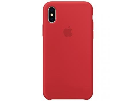 Capa Protetora Silicone para iPhone X - Apple Product (RED) MQT52ZM/A