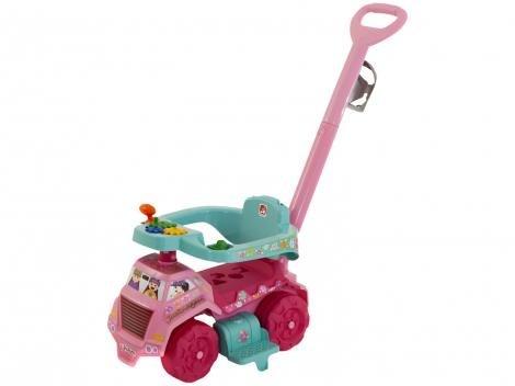 Carrinho Andador Bebê Caminhão Jardinagem - com Empurrador Bandeirante