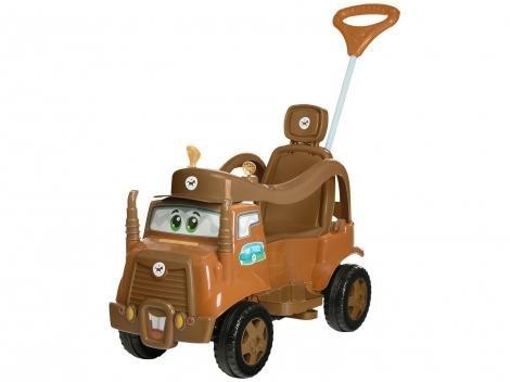 Carrinho de Passeio Infantil Passeio  Pedal - Mk Truck com Empurrador Emite Sons Calesita