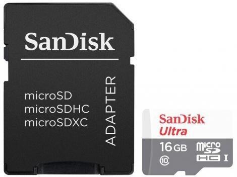 Cartão de Memória 16GB SanDisk Micro SD Classe 10 - 80MB/s p/ Smartphone - a prova d água